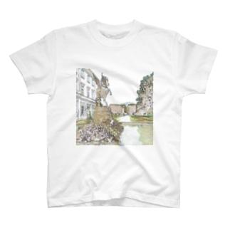 CG絵画:ミラベル宮殿 CG art: Schross Mirabell / Salzburg T-shirts