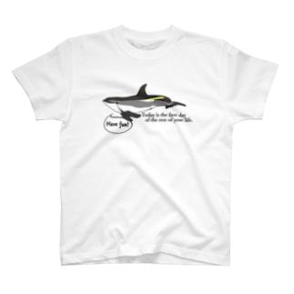 タイセイヨウカマイルカ「今日は残りの人生の最初の日である。」 T-shirts