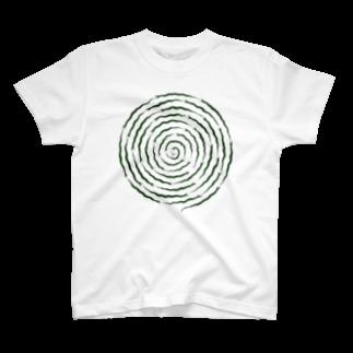 ツバメ堂のぐるぐるヘビ Tシャツ