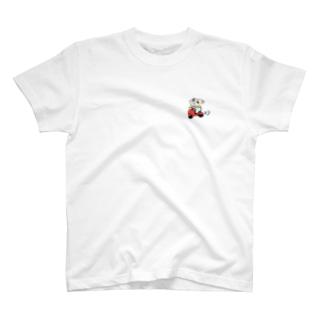 原付に乗るシーズーくん T-shirts