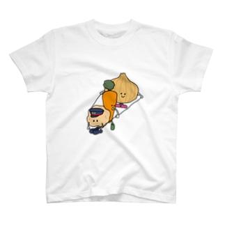 畑発カレー行き T-shirts