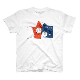 机の上 トリコロール T-shirts