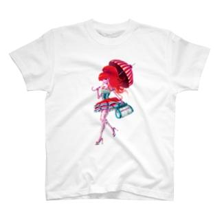 A Walking Girl Tシャツ