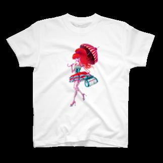 青柳カヲルのA Walking Girl T-shirts