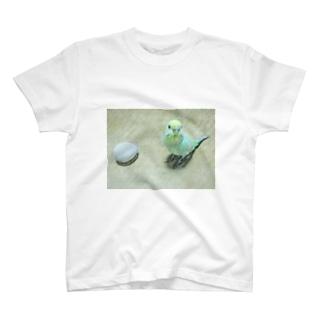 東京銘菓とセキセイインコ T-shirts