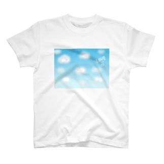 青い空白い雲 T-shirts