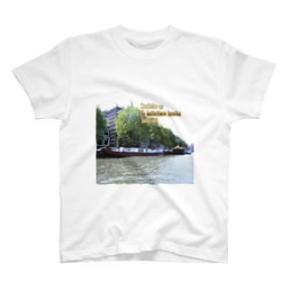 オランダ:アムステルダムのハウスボート netherlands: Houseboat in Amsterdam canal T-shirts