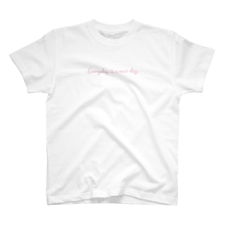Everyday is a new day ピンク T-shirts