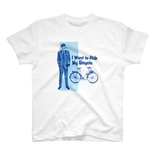 レトロサイクル - I Want to Ride My Bicycle T-shirts