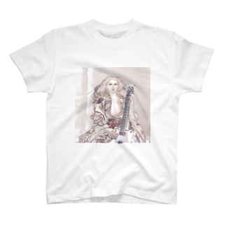 CG絵画:エレキギターを持つ少女 CG art: Kimono girl with an electric guitar T-shirts