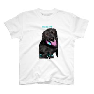 DOGLABの黒ラブ 仁くん T-shirts