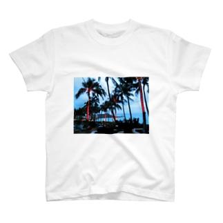 Hawaii night view T-shirts
