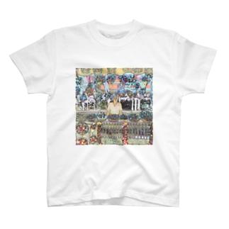 CG絵画:土産物店 CG art: Souvenier shop T-shirts