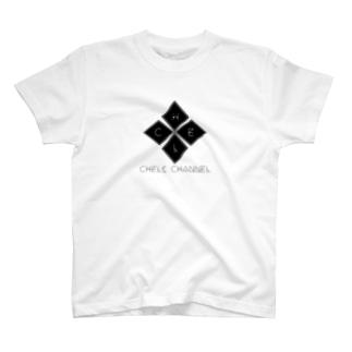 ちぇるしーのグッズ売り場のCHEL CHANNNEL T-shirts
