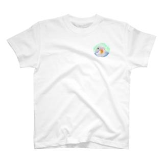 まめるりはことりのセキセイインコ オパーリン【まめるりはことり】 T-shirts