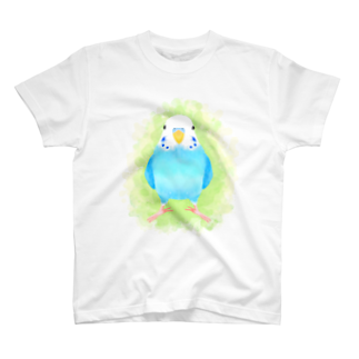 まめるりはことりのセキセイインコ ブルー【まめるりはことり】 T-shirts