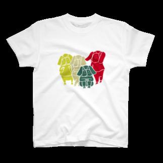 shirokumasaanのパグ四兄弟 T-shirts