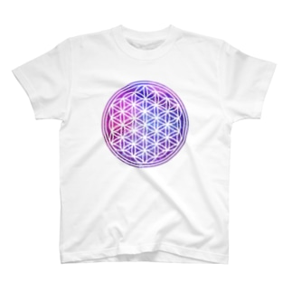 フラワーオブライフ(宇宙系) T-shirts