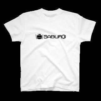 SABUROのカエル ドラム ロゴ ブラック T-shirts