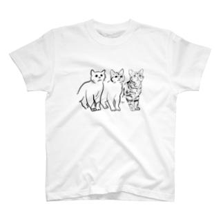 ねこ3 T-shirts