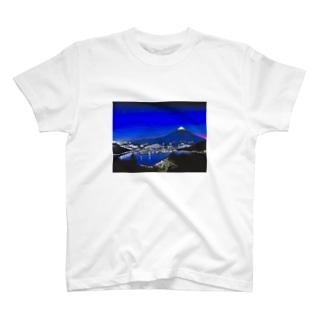 富士山と街灯り T-shirts