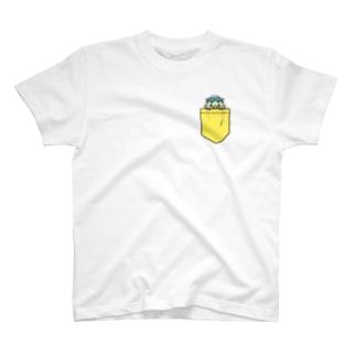 かわのすけ(きいろいポッケ) T-shirts