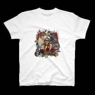 よぷーるのバイクガール T-shirts