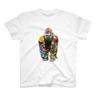 ボタニカルゴリラ T-shirts