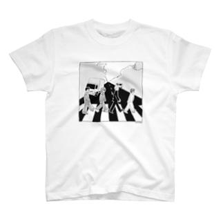 ザ・生きてるズ「アビーロード」パロディ T-shirts