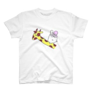 コーラちゃんキリン乗り T-shirts