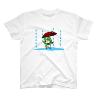 雨だよ、タマ吉 T-shirts