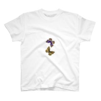 国蝶「オオムラサキ」ペア T-shirts