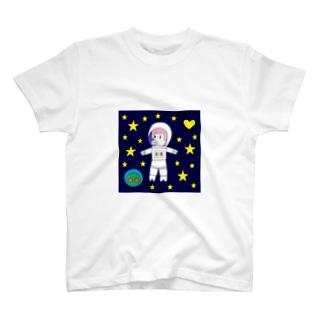 宇宙遊泳するBURARA T-shirts