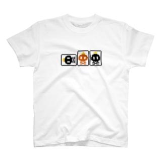 へらドクロretro(赤入り) T-shirts