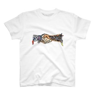 握手Tシャツ T-shirts