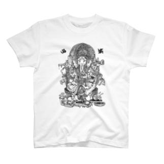 ガネーシャ tシャツ T-shirts
