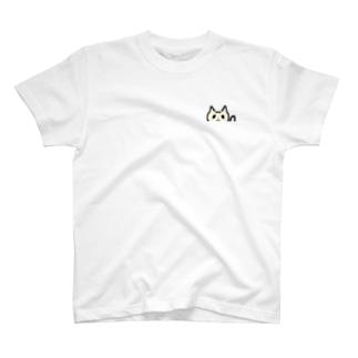 パンダ目のネコさん T-shirts