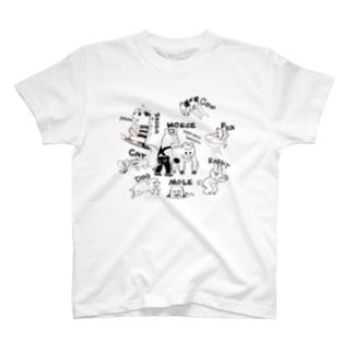 モブどうぶつ T-shirts