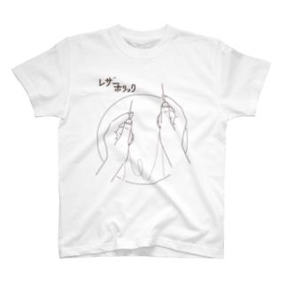 縫うのに針は2本使います。レザーホリック T-shirts