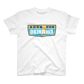 ABADDON OKINAWA BLUE LOGO T-shirts