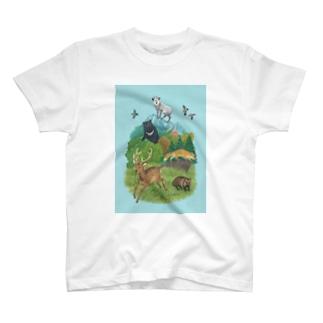 関東のどうぶつたち T-shirts