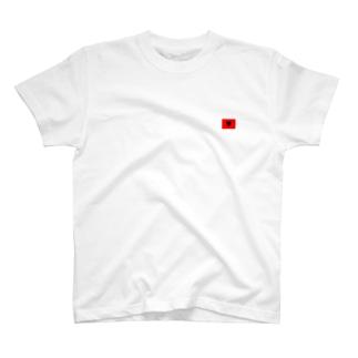 アルバニア国旗 胸ロゴ T-shirts