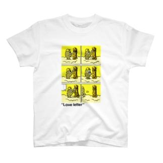 """タダユキヒロ""""Love letter"""" post T-shirts"""