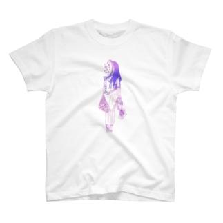 月夜の女の子 T-shirts