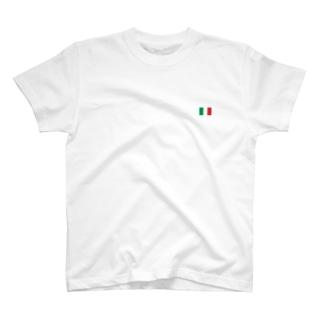 大のイタリア国旗 胸ロゴ T-shirts