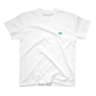 ウズベキスタン国旗 胸ロゴ T-shirts