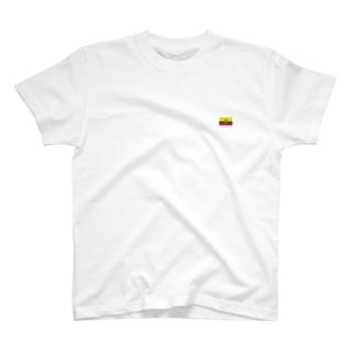 エクアドル国旗 胸ロゴ T-shirts