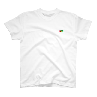 ガイアナ国旗 胸ロゴ T-shirts