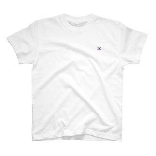 韓国国旗 胸ロゴ T-shirts