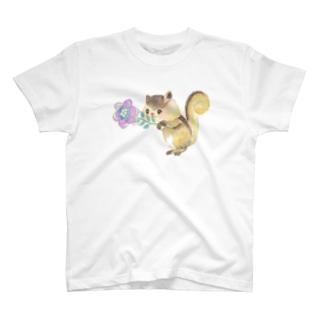 はい、どーじょ。_デジタルお花編_ T-shirts